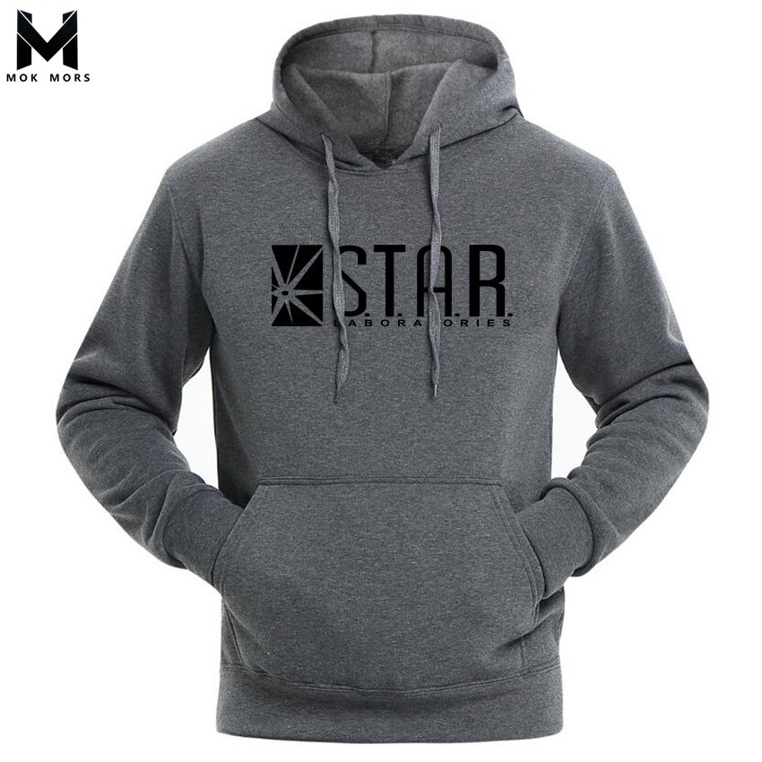 2017 STAR Labs Black Women Men Hooded Hoodies Male Sweatshirt Jumper The Flash Gotham City Comic