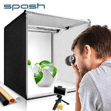 Spash studio box 40 centimetri luce protable box photo studio soft box con 3 colore di sfondo fotografia lightbox tenda photo sparare
