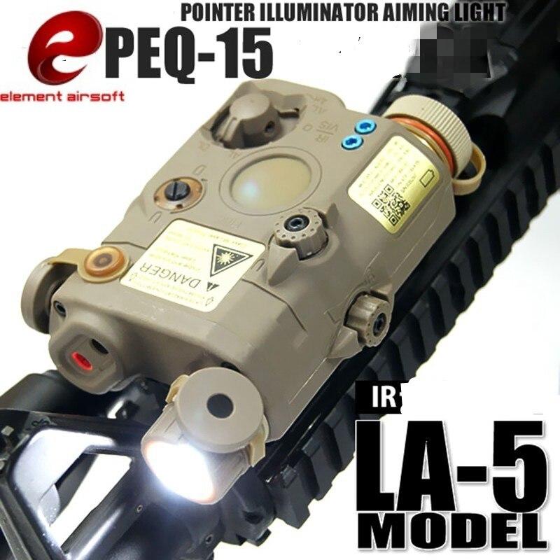 Élément PEQ 15 LA5 LED arme lumière Vision nocturne IR dispositif Laser Paintball chasse PEQ15 lumière Laser Combo EX276