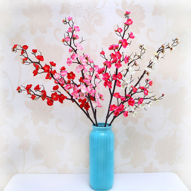 Artificial Decorations Nice 1pcs Simulation Artificial Cherry Silk Blossom Home Bedroom Garden Decor Table Top Artificial Flowers Party Supplies