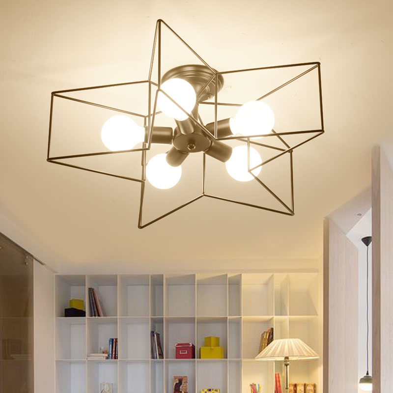 Modern Star Shape LED Ceiling Lights Surface Mounted Ceiling Lamp Living Room Kitchen Light Fixtures restaurant free shipping