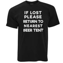 Cheap Shirts Print Short O-Neck Mens If Lost Return To Beer  Tee