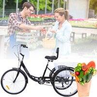 (Ship from Germany) Ridgeyard 24 Adult Tricycle bike 3 wheel Shimano 6 Speed Bicycle Trike Cruiser