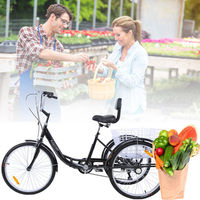 (Ship from Germany) Ridgeyard 24 Adult Tricycle bike 3 wheel Shimano 6 Speed Bicycle Trike Cruiser