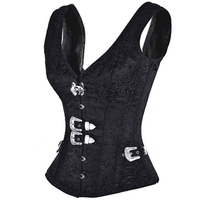 Sexy Lingerie Corset Leather Steampunk Gothic Clothing Waist Trainer Lingerie Slimming Party Corsets And Bustiers