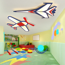 led ceiling light Childrens room lamp cartoon personality creative bedroom aircraft fighter lights avize abaju
