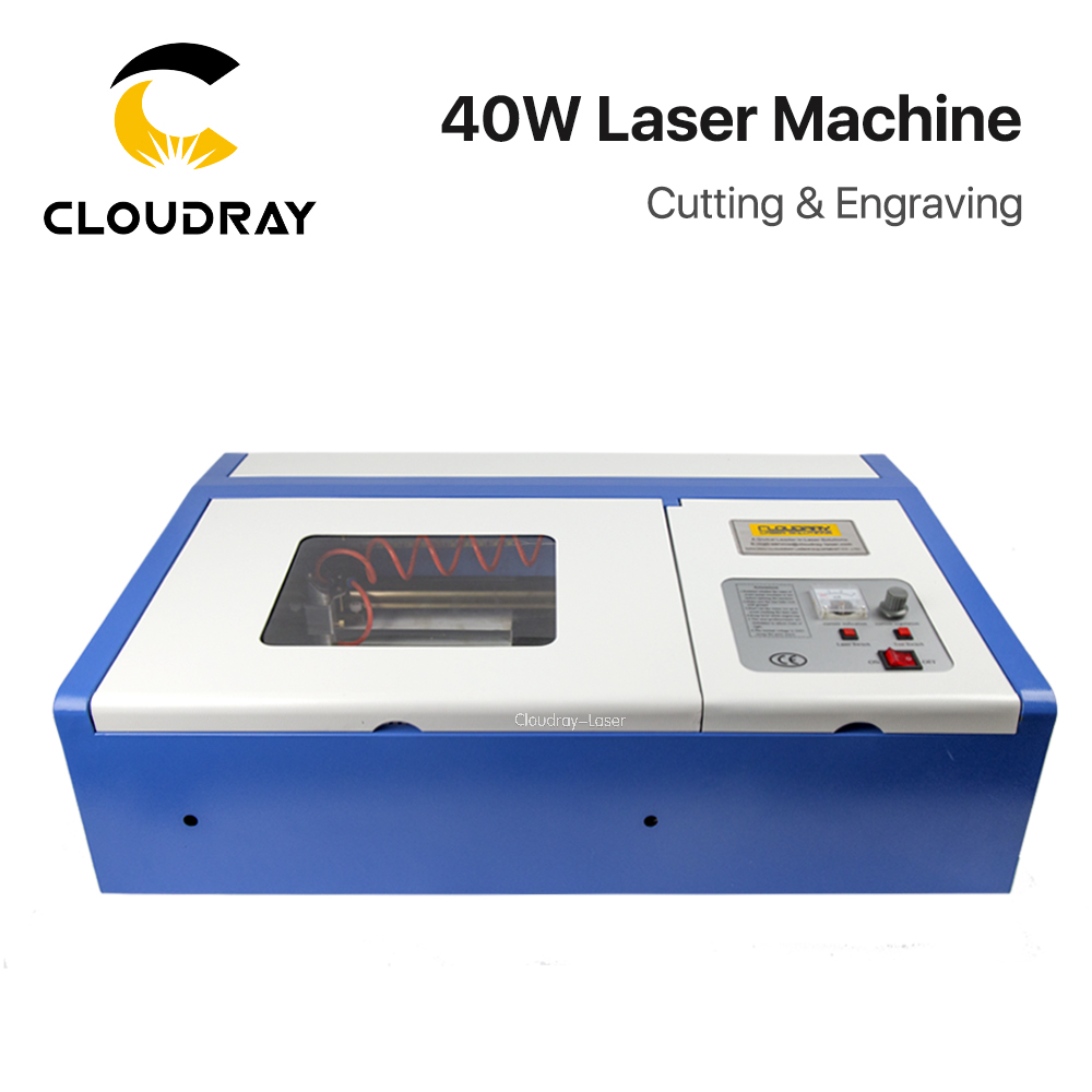 Cloudray 40W CO2 Laser Engraving Cutting Machine Engraver Cutter USB 3020 Port High Precise america domestic shipping high quality 40w usb co2 laser engraving cutting machine engraver cutter with coreldraw software