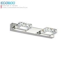 Ecobrt  Modern Lighting 6W 32CM Square LED crystal bathroom lights mirror lamp Champane &Transparent color