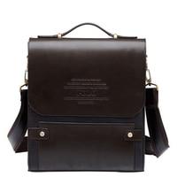 2017 Famous Brand PU Leather For Men S Shoulder Bag Men Size Large Casual Briefcase Fashion
