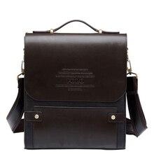 TOP POWER 2017 Famous Brand PU Leather For Men's Shoulder Bag Men Size Large Casual Briefcase Fashion Men Messenger Bag Handbag