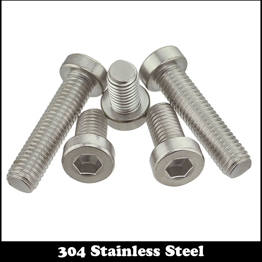 M4 M4*6 M4x6 M4*8 M4x8 304 Stainless Steel 304ss DIN7984 Hex Hexagon Socket Allen Head Cap Screw With Reduced Head