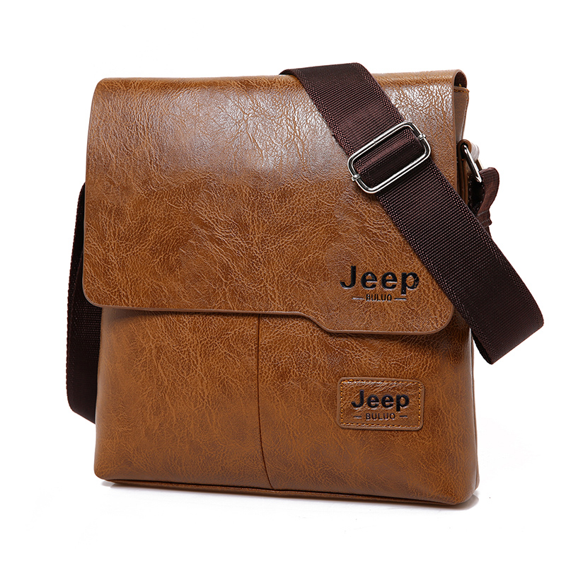 Men Tote Bags Set JEEP BULUO Famous Brand New Fashion Man Leather Messenger Bag Male Cross Body Shoulder Business Bags For Men 14