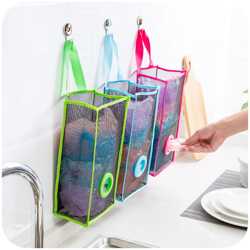 Nylon Breathable Mesh Hanging Kitchen Garbage Bags Storage Foldable Packing  Pouch Shopping Bag Sorting Extraction Box 64016 In Storage Bags From Home  ...