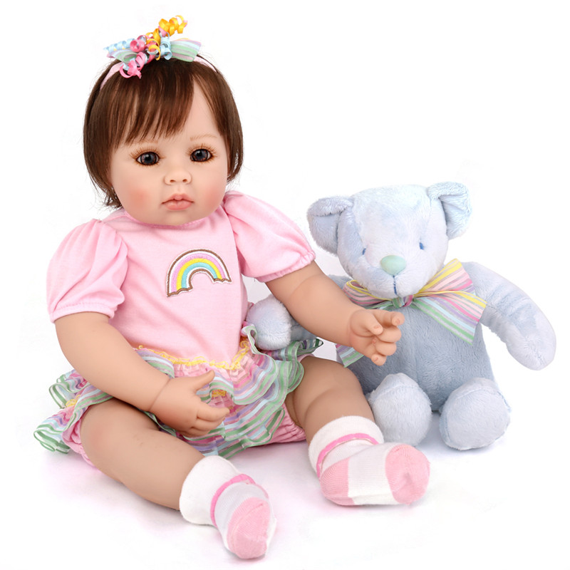 Newest Girl Toys 50cm Soft Silicone Reborn Dolls L.o.l Surprises Baby Realistic Doll Reborn Vinyl Boneca Reborn Doll For GirlsNewest Girl Toys 50cm Soft Silicone Reborn Dolls L.o.l Surprises Baby Realistic Doll Reborn Vinyl Boneca Reborn Doll For Girls