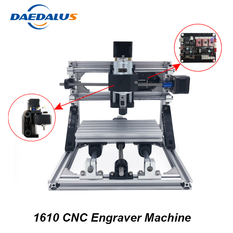 CNC 1610 Machine 3 Axis Engraving Machine Mini DIY PCB Milling Machine Wood Carving Laser Engraver ER11 Router With GRBL Control 2020 wood router pcb milling machine arduino cnc diy wood carving laser engraving machine pvc engraver grbl cnc router fit er11