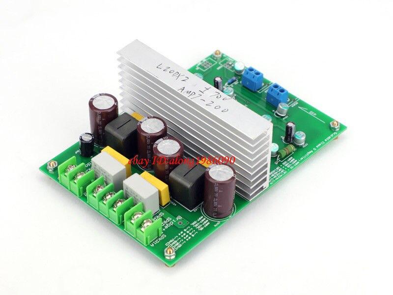 цена на GZLOZONE Hi-end L20DX2 IRS2092 Top Class D Amplifier Board IRAUDAMP7S 250W*2 ---L10-33