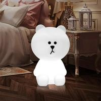 Children LED Night Light Dimmable Kids Bear Shape Lamp Cartoon 5W Animal White Home Decorative Gift Festival light 100 240Vcolor