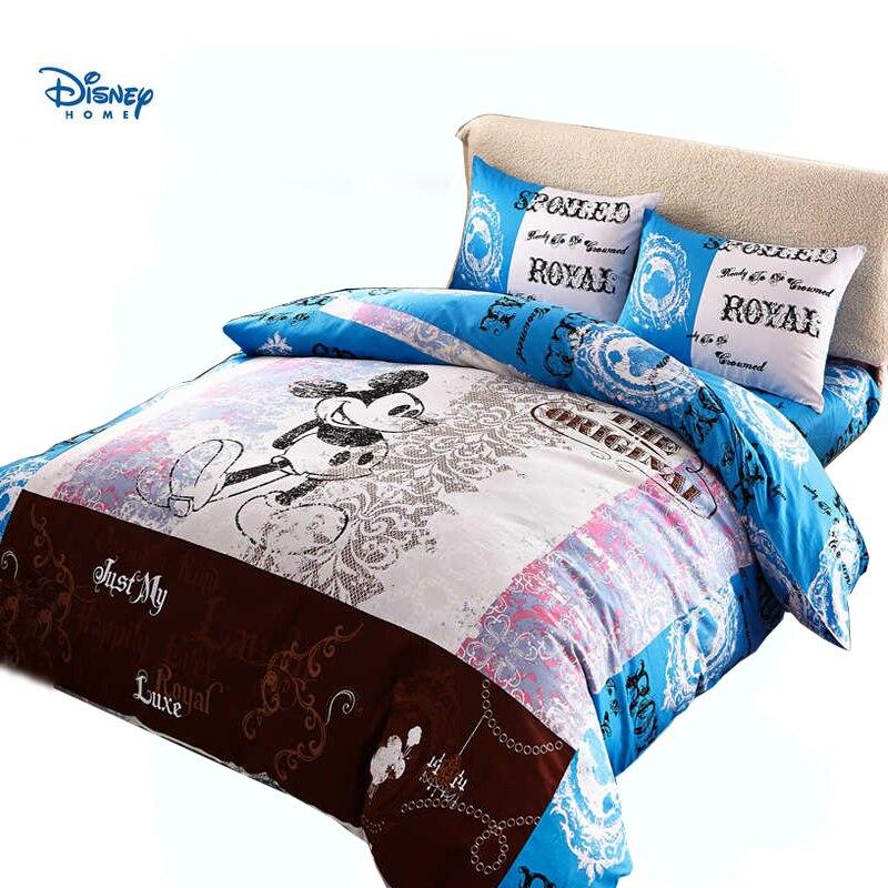 cartoon Mickey Minnie mouse bedding set 100% cotton disney comforter cover boy children bed sheet set 3d single twin queen king