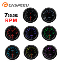 CNSPEED Auto Parts 252mm Automatic Tachometer 7 Color 0 10000 RPM Instrument High Speed Stepper Motor Tachometer Car YC101381
