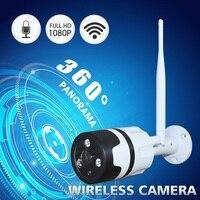 Zjuxin 1080P panorama outdoor WIFI Kamera verwenden HD 1 44 MM objektiv 2MP 360 grad Metall wasserdichte kamera unterstützung Max 128GB TF karte-in Überwachungskameras aus Sicherheit und Schutz bei