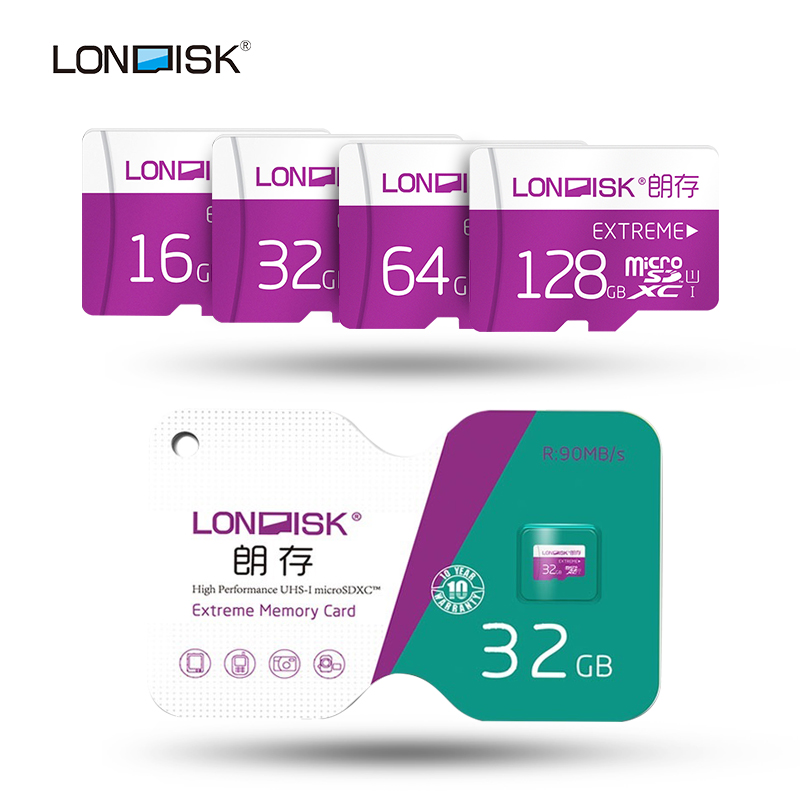 Londisk Micro SD 32 GB 8 GB 16 GB Carte Mémoire Flash 64 GB 128 GB Class10 UHS-1 600X Micro SD TF Carte Pour SmartPhone Pad Caméra