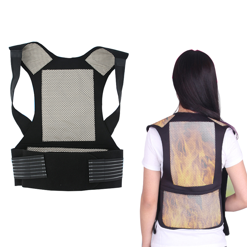 self-heating magnetic therapy belt waist support kneepad Shoulders sweater vest waistcoat warm back pain treatment Health Care self heating magnetic therapy pain relief wrist band brace strap support black pair