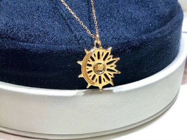 Christmas giftChristmas gift Jewelry Au750 18K Necklac  With national certificate 0014 2