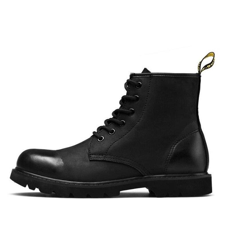 Moto Pour Hombre Véritable Noir Nouveau Martin marron Dentelle De Cuir Chaussures Boot Botas Hommes rose Cheville D'hiver Mode En Bottes up MpSUzqV