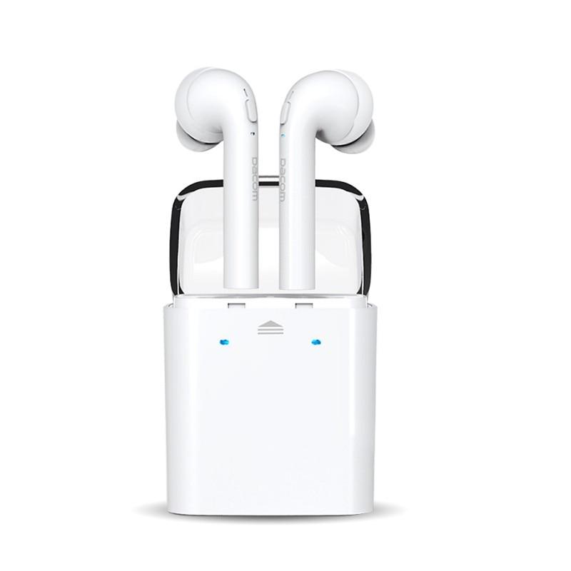 White Sport Earphones True Wireless Bluetooth Double Twins Earbuds Earphone For iPhone 7