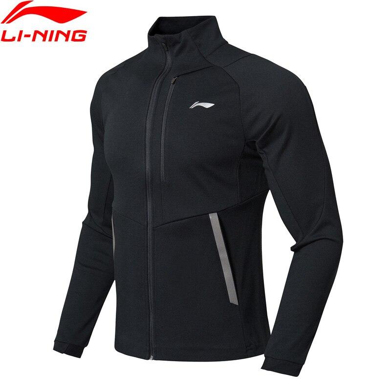 Li-Ning мужской тренировочный свитер серии 74% хлопок 26% полиэстер Обычная посадка застежка-молния подкладка спортивные пальто Топы AWDN359 MWW1417