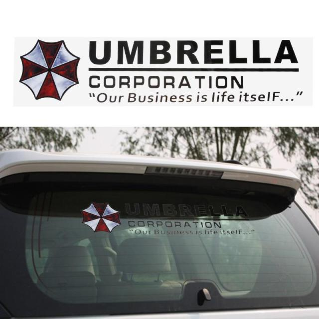 1pcs umbrella corporation car front rear windshield decal auto window sticker vinyl car decals stickers