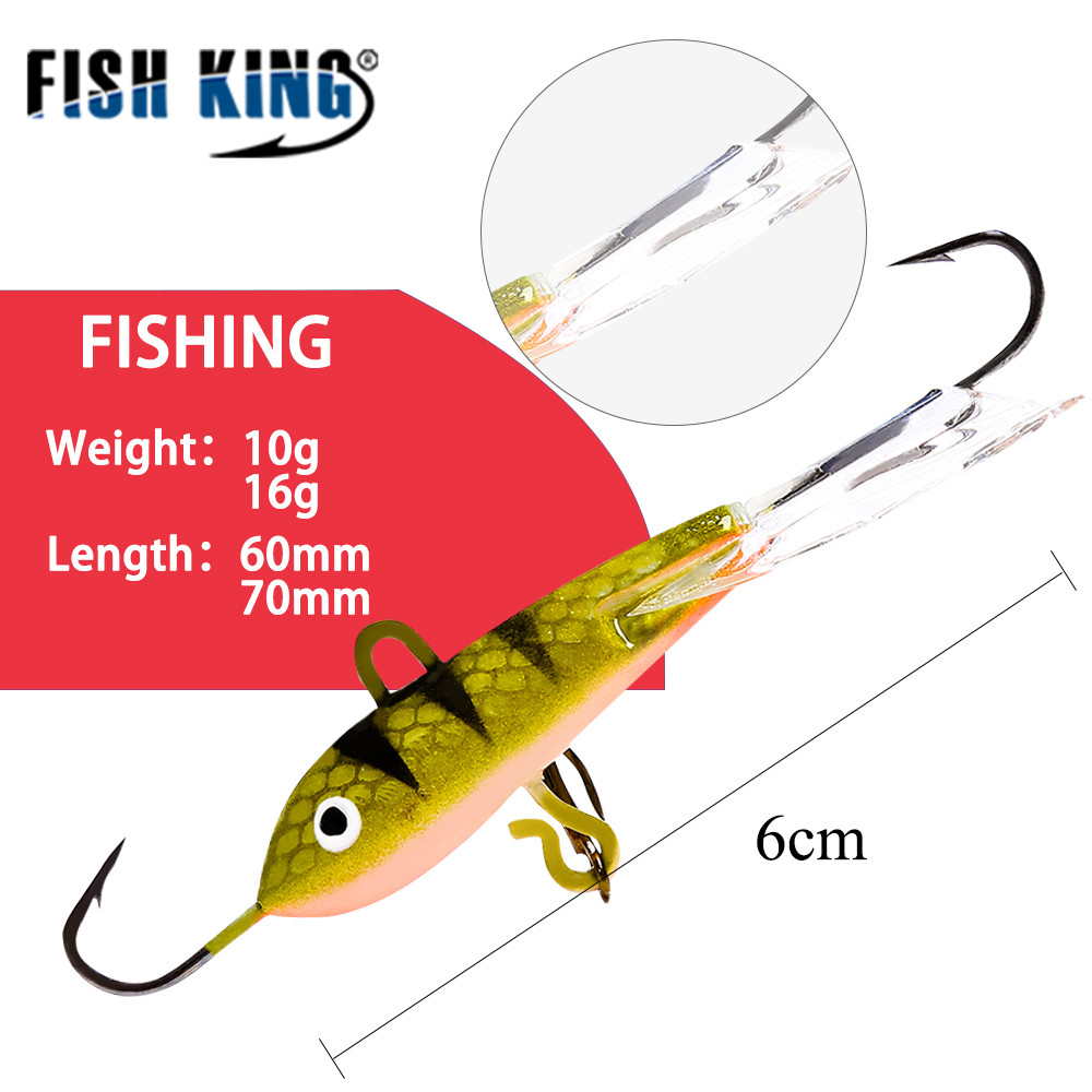 Fish king 10g 16g 4 color winter ice fishing lure hard for Pike ice fishing lures