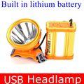 Super brilhante L2 100 W farol pesca farol bateria de lítio recarregável USB para a caça noturna