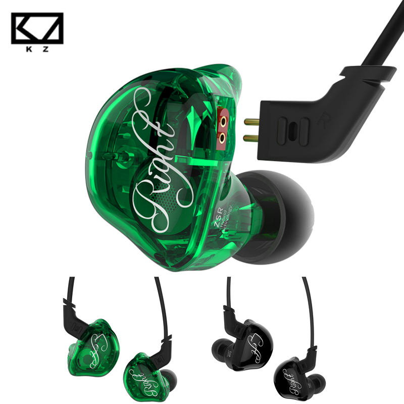 Original KZ ZSR In-ear Earphone Balanced Armature With Dynamic 2BA+1DD Unit Noise Cancelling Headset With Mic Earphone for Phone jbl c100si in ear bass earplugs mobile phone wire movement with mic original earphone 3 5mm metal plug cancelling noise headset