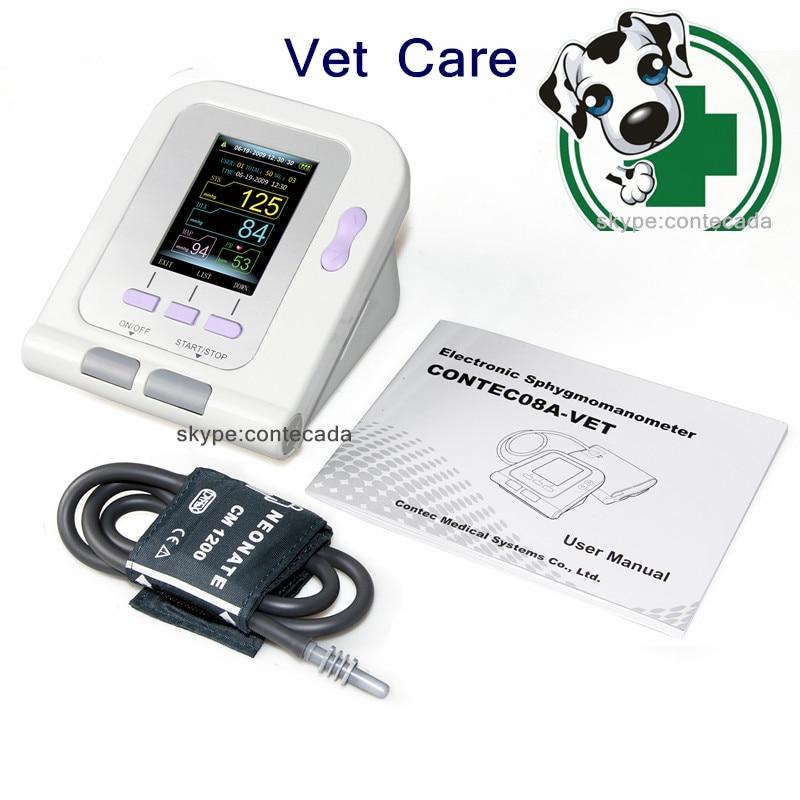 FDA VÉTÉRINAIRE Vétérinaire Numérique Moniteur de Pression Artérielle, PNI + VÉTÉRINAIRE manchette CONTEC08A CONTEC