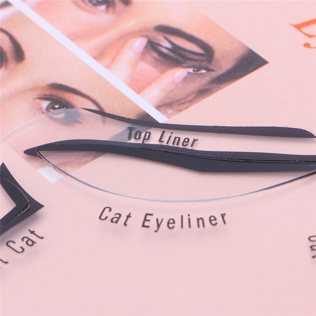 6 In 1 Eyeliner Stencil Set Template Quick Cat Smoky Tool Eye Liner Makeup Guide Tool 2