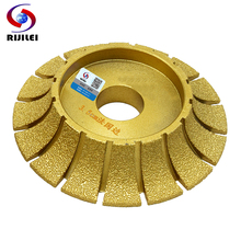 RIJILEI 140mm*30mm Brazing Diamonds Marble Sanding Disc thickness 10-40mm Angle Grinder Grinding wheel edging discs MX45