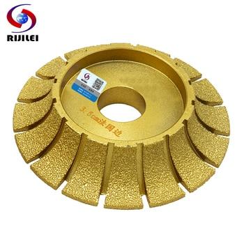 цена на RIJILEI 140mm*30mm Brazing Diamond profiling wheels for marble and Granite Angle Grinder Grinding wheel Marble edging discs MX45