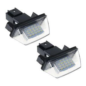 Image 2 - 1 זוג 18 LED רישיון מספר צלחת אורות מנורת עבור פיג ו 206 207 307 308 406 סיטרואן C3/C4 /C5/C6