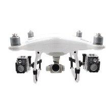 """עבור DJI פנטום 4 פרו + Drone ערכת צד מורחב סוגר LED אור הר עבור DJI פנטום 4 Pro עו""""ד מצלמה מחזיק עבור Gopro"""