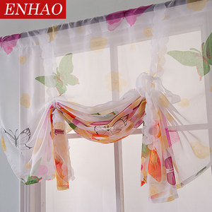 ENHAO Short Curtains Tulle Fab