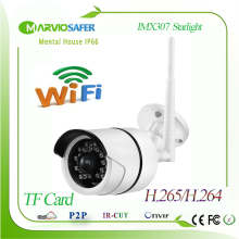 H.265/H.264 1080P Wireless Outdoor Bullet Wifi Network IP Camera Darklight Colorful Night Vision Sony IMX307 Sensor Onvif / RTSP