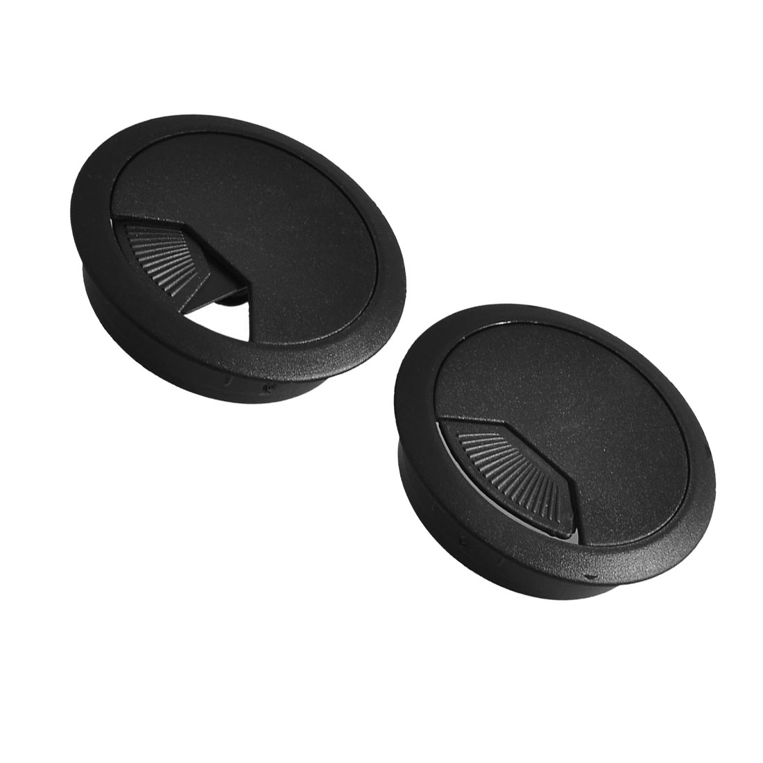 2 Pcs 53mm Diameter Desk Wire Cord Cable Grommets Hole Cover Black cc 923 cable cord holder wire winder black white 6 pcs