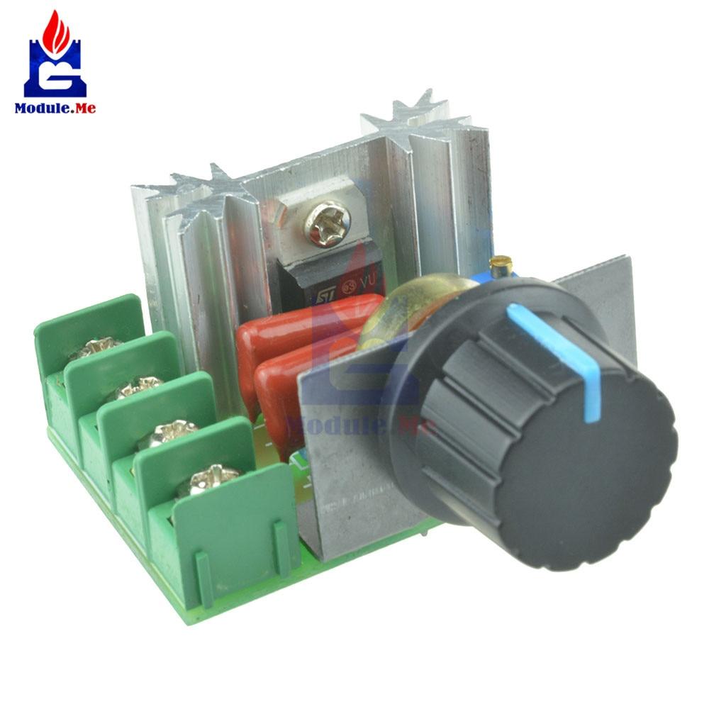 5Pcs Adjustable Voltage Regulator AC SCR Motor Speed Controller 220V 2000W T1