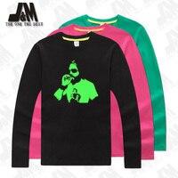 Райан Dunn JackAss Rip футболка Awesome Джонни кэш вдохновил тройник Партии Футболка Jack Ass показать светятся в темноте jack Ass шоу Top