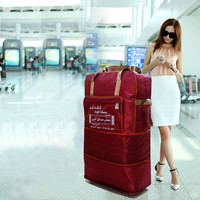 Large capacity Suitcase,Foldable Luggage,Universal wheel trolley case,36Multi function Oxford cloth trunk bag,Portable valise