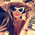 New Oversized Cat Eye Sunglasses Women Fashion Sexy Vintage Brand Designer Sunglasses Cateye Outdoor Female Eyewear UV400