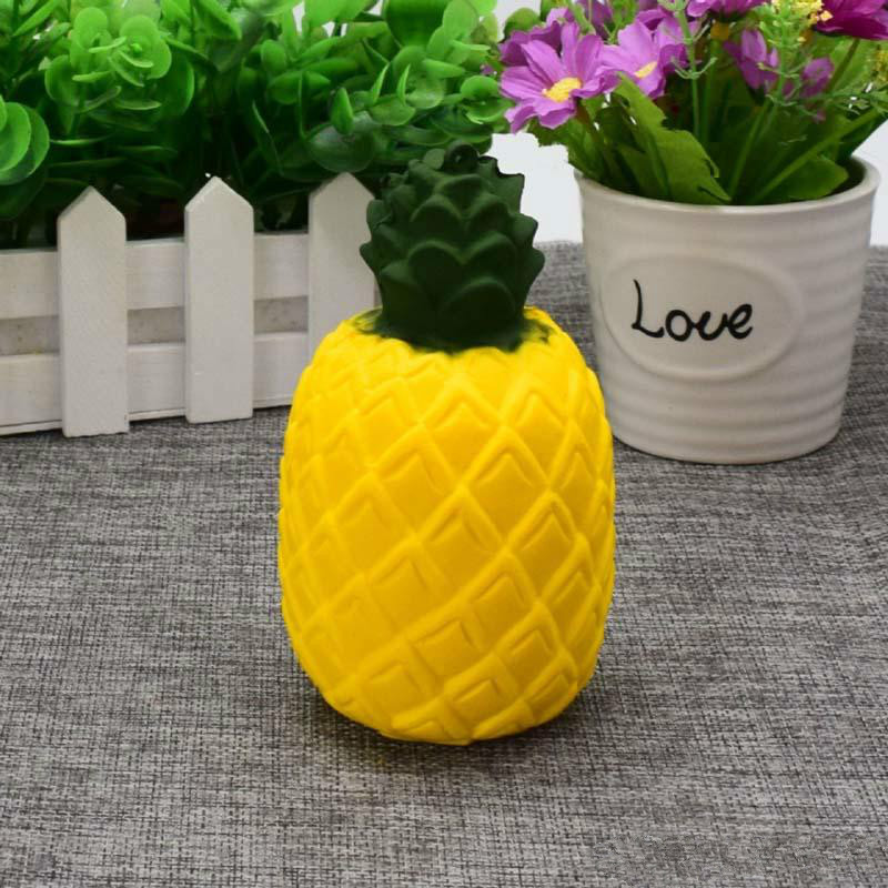 lovely Jumbo New Kawaii simulation pineapple soft Slow Rising Cute Scented Kid Fun squeeze Toy relief stress doll gifts Anxiety