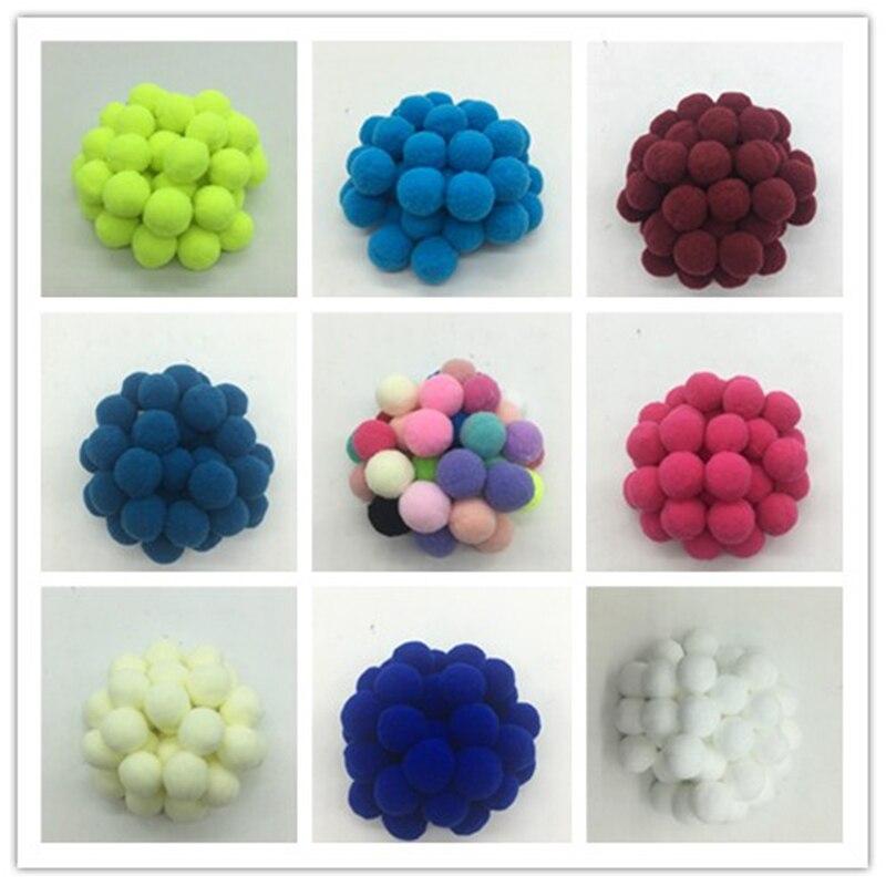 100Pcs 20mm,mix Color Pompom Fluffy Plush Cloth Craft DIY Soft Pon Pom Pon Poms Ball Furball Home Decor Sewing Supplies Craf
