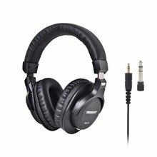 Freeboss FB 777 על אוזן סגור סגנון 45mm נהגים יחיד צד להסרה כבל 3.5mm תקע 6.35mm מתאם צג אוזניות